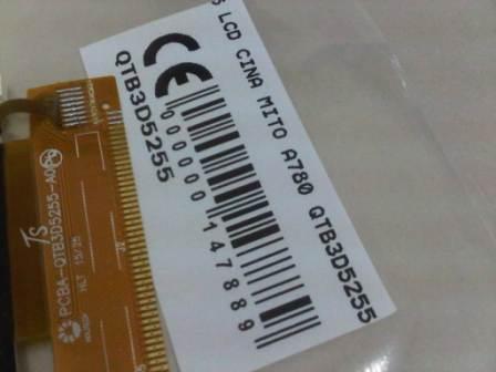 LCD MITO A780 QTB3D5255