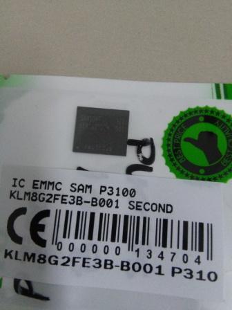 IC EMMC SAMSUNG P3100 KLM8G2FE3B B001 SECOND