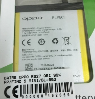 BATRE OPPO R827-OPPO FIND 5 MINI-BL563