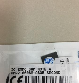 IC EMMC SAMSUNG NOTE 4 KMR210008M-A805