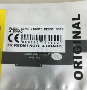 FLEXIBEL XIAOMI REDMI NOTE 4 BOARD
