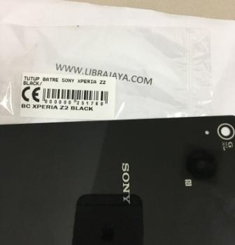Tutup Batre Sony Xperia Z2 Black