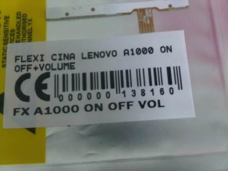 FLEXIBEL LENOVO A1000 ON OFF VOLUME