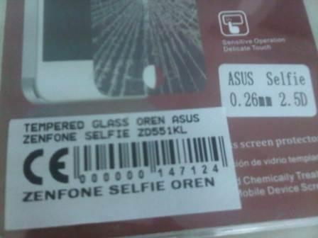 TEMPERED GLASS ASUS ZENFONE SELFIE