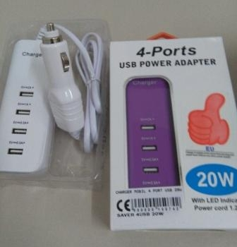 CHARGER MOBIL 4 PORT USB 20W