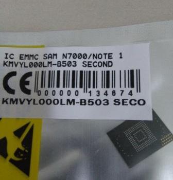 IC EMMC SAMSUNG N7000 NOTE 1 KMVYL000LM-B503 SECOND