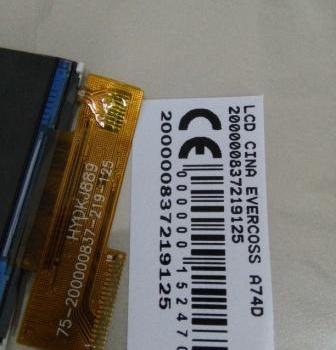 LCD EVERCOSS A74D 200000837219125