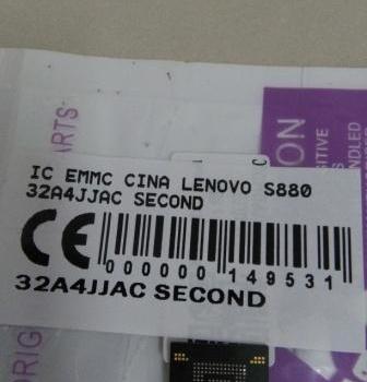 IC EMMC LENOVO S880 32A4JJAC SECOND