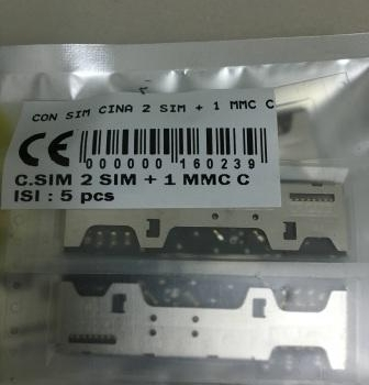KONEKTOR SIM CINA 2 SIM MMC C