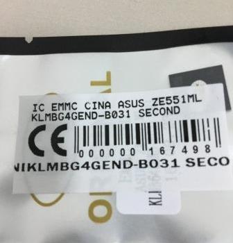 IC EMMC ASUS ZE551ML KLMBG4GEND-B031