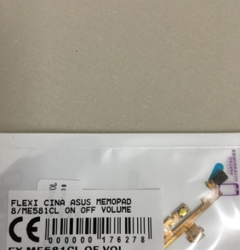 FLEXIBEL ASUS MEMOPAD 8 ME581CL ON OFF VOLUME