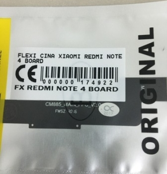 FLEXIBEL XIAOMI REDMI NOTE 4 BOARD