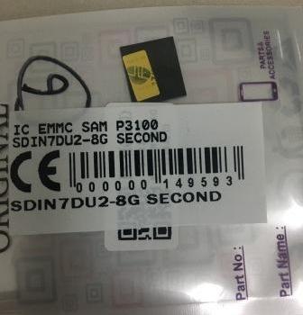 IC EMMC SAMSUNG P3100 SDIN7DU2-8G