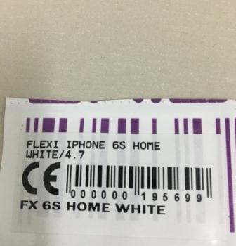 FLEXIBEL IPHONE 6S HOME WHITE