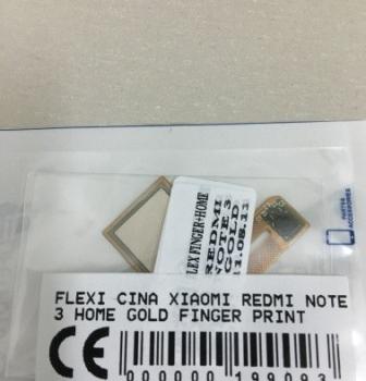 FLEXIBEL XIAOMI REDMI NOTE 3 HOME GOLD FINGER PRINT