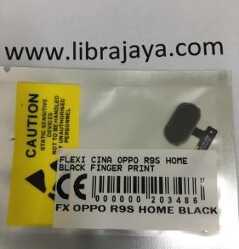Flexibel Oppo R9S Home Black Finger Print