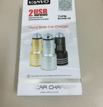 USB CHARGER MOBIL VANVO METAL SVM3-01