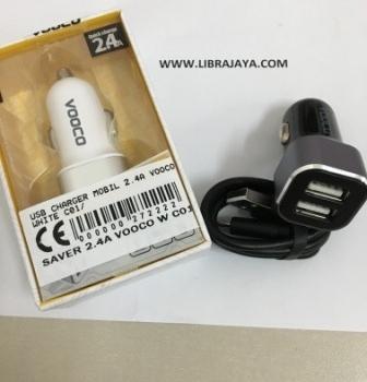 Usb Charger Mobil 2.4A Vooco Black C01