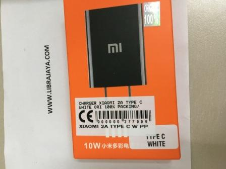 Charger Xiaomi 2A Type C White Ori 100% Packing