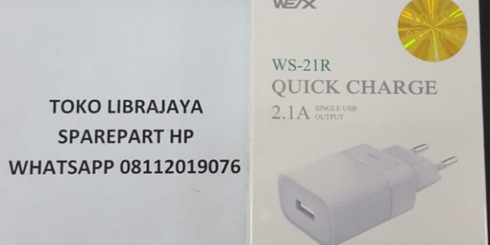 Adaptor Charger Ws-21R Quick Charge 2.1A Wex