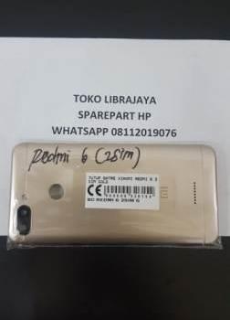 Tutup Batre Xiaomi Redmi 6 2 Sim Gold