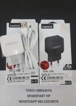 charger samsung v8 2usb cvp24-01 vanvo white