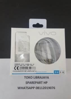 charger vivo v1020d-eu v8 white indo ori 100% pack
