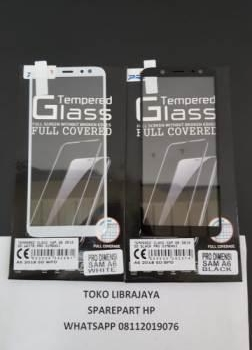 Tempered Glass Sam A6 2018 5D White Pro Dimensi