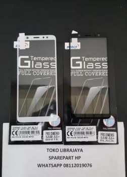 Tempered Glass Samsung A6 Plus 2018 5D White Pro Dimensi