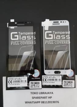 Tempered Glass Samsung J7 Plus 5D Black Pro Dimensi