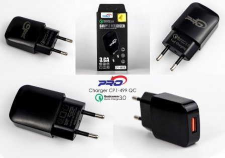 BATOK CHARGER CP1-499 BLACK PRO-3.0A 1USB-FAST