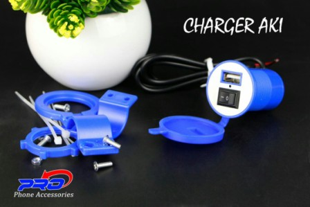 CHARGER AKI MOTOR WATER PROOF PP