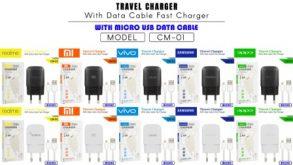 CHARGER CM-01 REALME MICRO BLACK-2.4A 1USB-FAST
