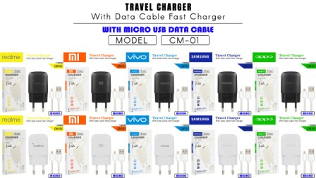 CHARGER CM-01 REALME MICRO BLACK-2.4A 1USB-FAST