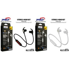 HANDSFREE BLUETOOTH PRO-02 WHITE