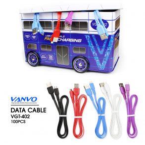 KABEL DATA IPHONE VANVO VGT-402 2A KALENG 1SET 100PCS