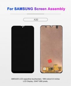 LCD SAMSUNG A305F BLACK CONTRAS AAA-TS-A30-A505-A50