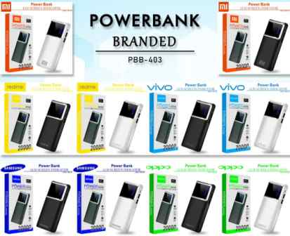 POWER BANK 20000 MAH PBB-403 LED