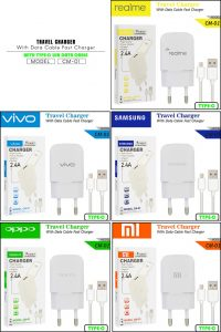 CHARGER CM-01 REALME TYPE C WHITE-2.4A 1USB-FAST