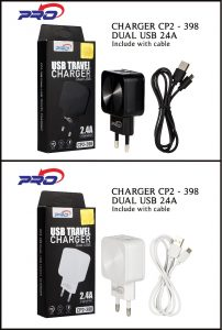 CHARGER CP2-398 MICRO BLACK PRO-2.4A 2USB