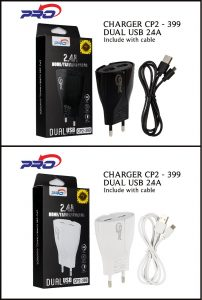 CHARGER CP2-399 MICRO BLACK PRO-2.4A 2USB