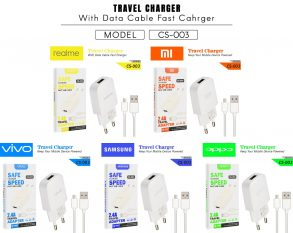 CHARGER CS-003 REALME MICRO WHITE-2.1A 1USB-FAST