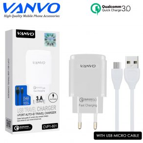 CHARGER CVP1-801 MICRO WHITE VANVO 1USB