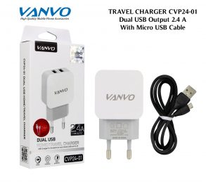 CHARGER CVP24-01 MICRO BLACK VANVO 2USB
