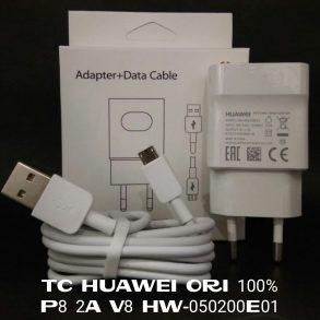 CHARGER HUAWEI MICRO HW-050200E01 WHITE ORI 100% PACK-2A-P8