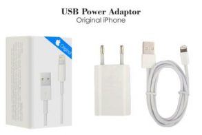 CHARGER IPHONE 5G WHITE ORI 99% PP-KABEL DATA-IPHONE 6