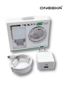 CHARGER OPPO R17 VOOC MICRO WHITE ORI 100% PACK-AK770