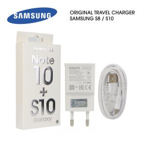 CHARGER SAMSUNG S10 WHITE ORI 99% PACK FAST-EP-TA200-TYPE C