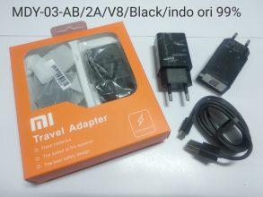 CHARGER XIAOMI MDY-03-AB MICRO BLACK ORI 99% KK INDO PP