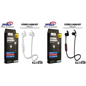 HANDSFREE BLUETOOTH PRO-01 WHITE
